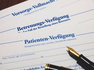 Vorsorgevollmacht und Patientenverfuegung